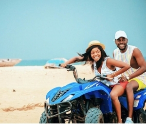 Simi And Adekunle Gold In Loved Up Photo